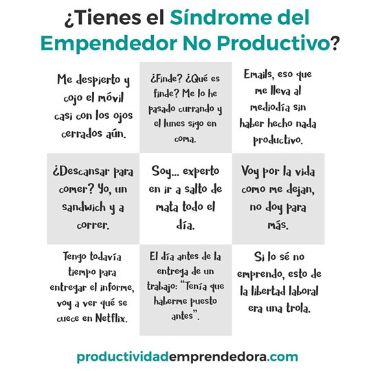 emprendedor no productivo